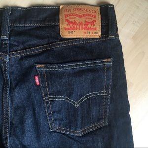 Levi's Jeans - LEVIS 541 Denim Jeans Dark Blue Straight 34 x 30